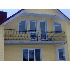 Балкон кованый в частном доме - модель №9