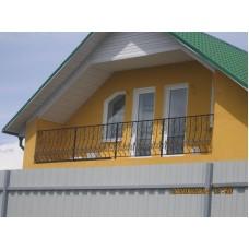 Балкон с фигурными ромбами - модель №16