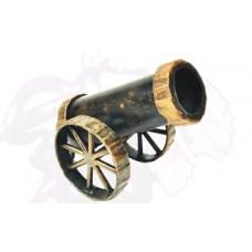 Карандашница из стали (цвет:черный с золотом) арт. № Д-0107