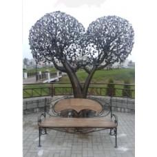Дерево счастья (скульптурная композиция из стали)