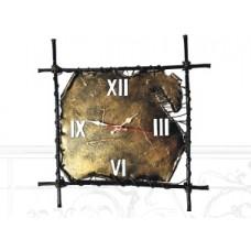 Часы настенные, цвет черный с золотом арт. № Д-0103
