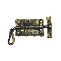 Засов дверной из стали (цвет: черный с золотом) арт. № Ф-0101