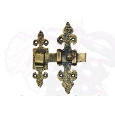 Засов дверной из стали (цвет: черный с золотом) арт. № Ф-0102