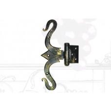 Петля дверная из стали (цвет: черный с золотом) арт. № Ф-0104