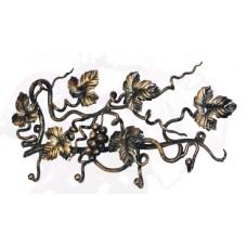 Ключница из стали, цвет черный с золотом арт. № К-0101