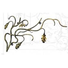 Ключница из стали, цвет черный с золотом арт. № К-0105