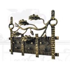 Ключница из стали, цвет черный с золотом арт. № К-0103