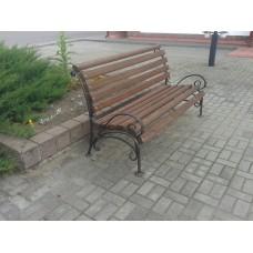 Скамейка садовая со спинкой, мод.№2