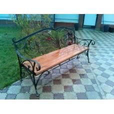 Скамейка для дачи с деревянным сиденьем, мод.№5