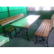 Садовая скамейка со столом, мод.№7