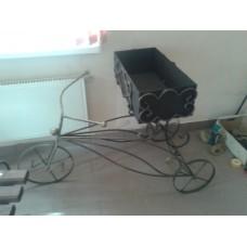 Мангал из металла (сталь), художественная ковка в виде велосипеда - модель № 2