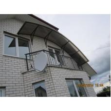 Небольшой навес для балкона - модель №24