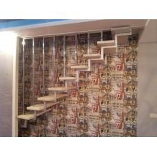 Металлический каркас для подвесной лестницы - модель №12