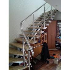 Лестничные перила из нержавейки для помещений - модель №7
