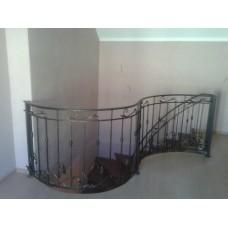 Кованые лестничные перила - модель №35