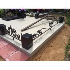 Ограда металлическая на кладбище - модель №2