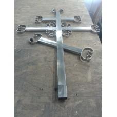 Крест надгробный металлический - модель №4