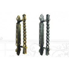 Ручка дверная из крученой стали (цвет: серебро) арт. № Р-0203
