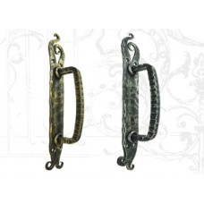 Кованая стальная дверная ручка (цвет: серебро) арт. № Р-0205