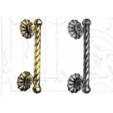 Кованая дверная ручка (цвет: бронза) арт. № Р-0112
