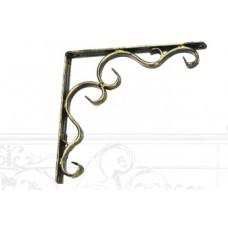 Уголок полочный из стали, арт. № У-0104, цвет - бронза