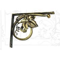 Уголок полочный из стали, арт. № У-0105, цвет: черный с золотом