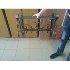 Вешалка настенная кованая для одежды - модель №4