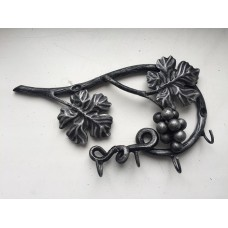 Вешалка настенная из стали на 4 крючка, цвет: серебро, арт. № В-0106