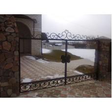 Забор прозрачный с резным замком, мод.№5