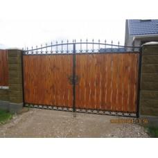 Кованые распашные ворота из стали, мод.№14