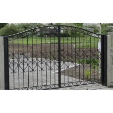 Ворота кованые распашные, красивый дизайн, доступная цена от производителя, мод.№2