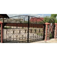 Ворота на заказ: художественная ковка из стали, ручная работа, распашные, мод.№28